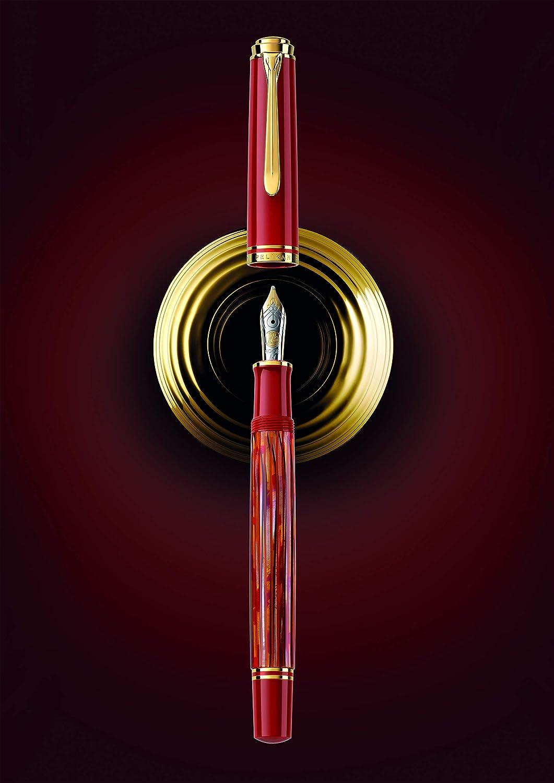 pennino M Pelikan 815758 Special Edition colore: Rosso tartaruga Penna stilografica a stantuffo M600