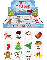 Henbrandt 48 x Christmas Children's Temporary Tattoos (4 packs of 12)