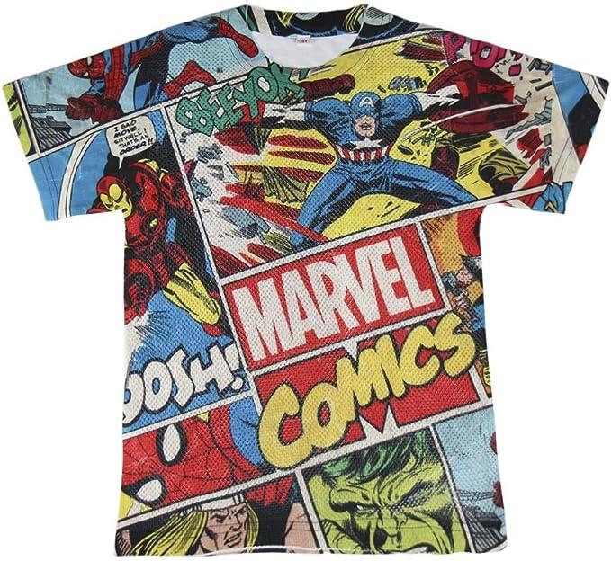 Camiseta malla niño manga corta marvel (10 años): Amazon.es: Ropa ...