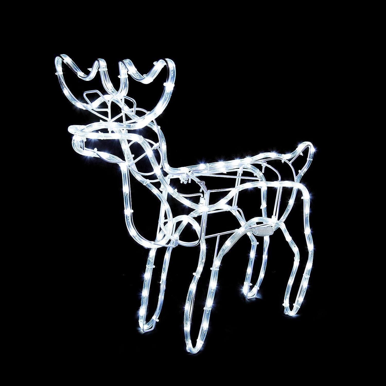 Amazon Com Animated Reindeer Family Led Rope Light Christmas