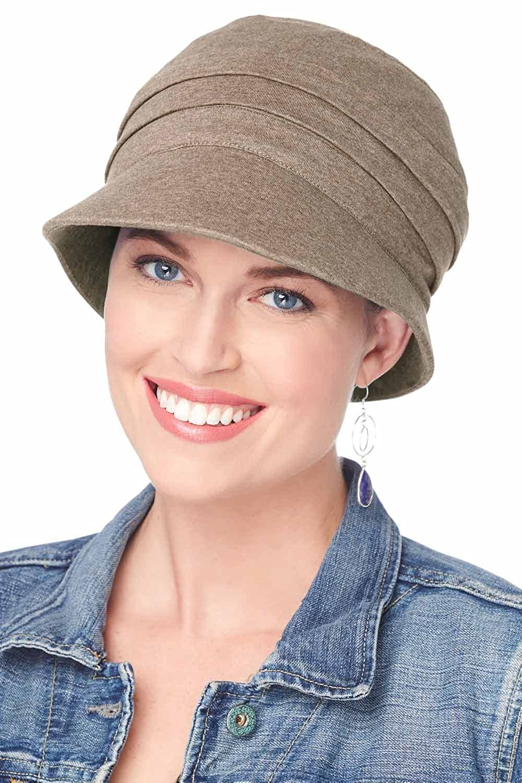 Cardani UPF Adventure Cap 100% Cotton Newsboy Hat with Aloe Lining   UPF 50+ UPF Heather Taupe