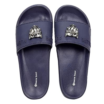 a5ba40a7d Bacca Bucci Men s Benassi Solarsoft Slide Athletic Sandal Beach  Slippers Slidders Lounge Slide