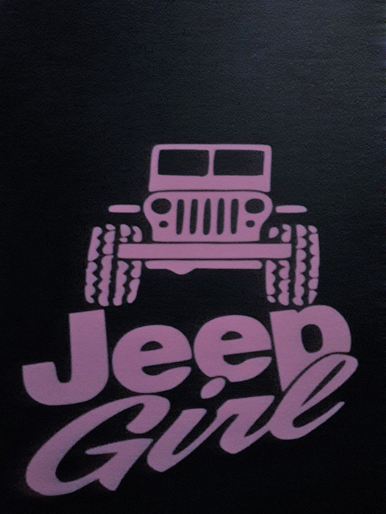 Girl Jeep Country Girl 4X4 Off Road Vinyl Decal Sticker|PINK|Cars Trucks SUV Laptops Tool Box Wall Art|5 X 5|CGS325 Chase Grace Studio