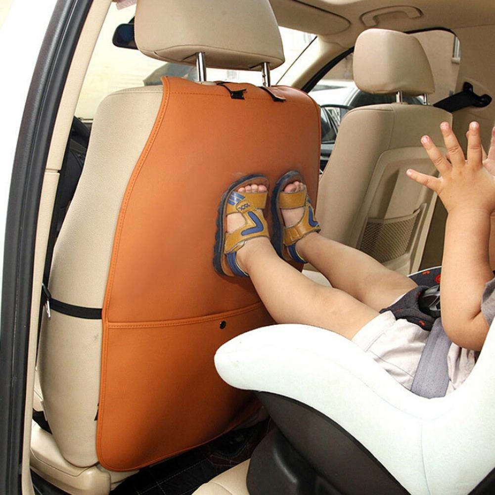 Protectores del respaldo del asiento,Funda protectora del respaldo del asiento del autom/óvil Anti-patada para ni/ños Anti paso a paso Alfombra limpia sucia Protector del asiento del autom/óvil Asiento a