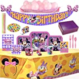 Disney Minnie Mouse Ultimate Birthday Party Supplies & Decorations For 8 Guests - 146 Pieces