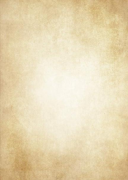 Papel carta vintage de alta calidad 50 hojas DIN A4 - Papel retro antiguo impreso por ambas caras - Amarillo Edad Media/Invitaciones/Antigüedad/Papel ...