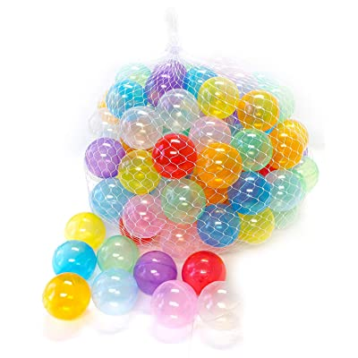 Amazon.com : EWONDERWORLD 100 Count Non-Toxic BPA & Phthalate Free Crush Proof Plastic Invisiball Play Balls with 10 Transparent Colors and Net Bag - Pit Balls for Kids & Toddlers, Playpen & Kids Tent Play Balls :
