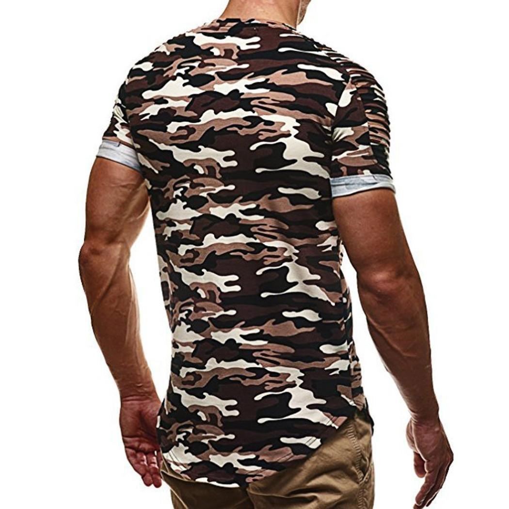 Camiseta para Hombre, ❤️Xinantime Top de Camuflaje de la Personalidad de la Moda Blusa de Hombre Camisa Informal de Manga Corta: Amazon.es: Ropa y ...