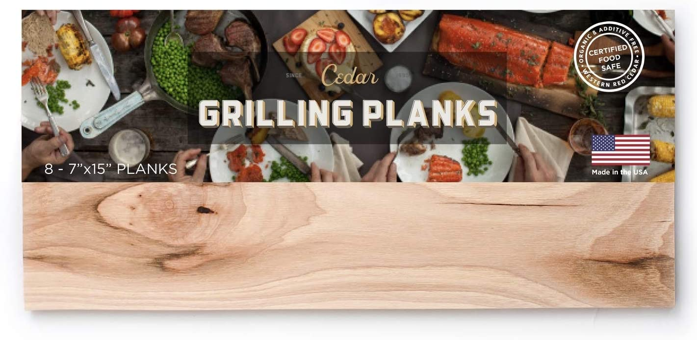 Western Red Cedar Grilling Planks - 8 Pack (Large)
