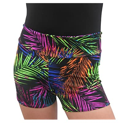 Delicate Illusions Kids Soft Stretch Gymnastics Fitness Cheer Dance Lycra Spandex Competition Shorts For Girls