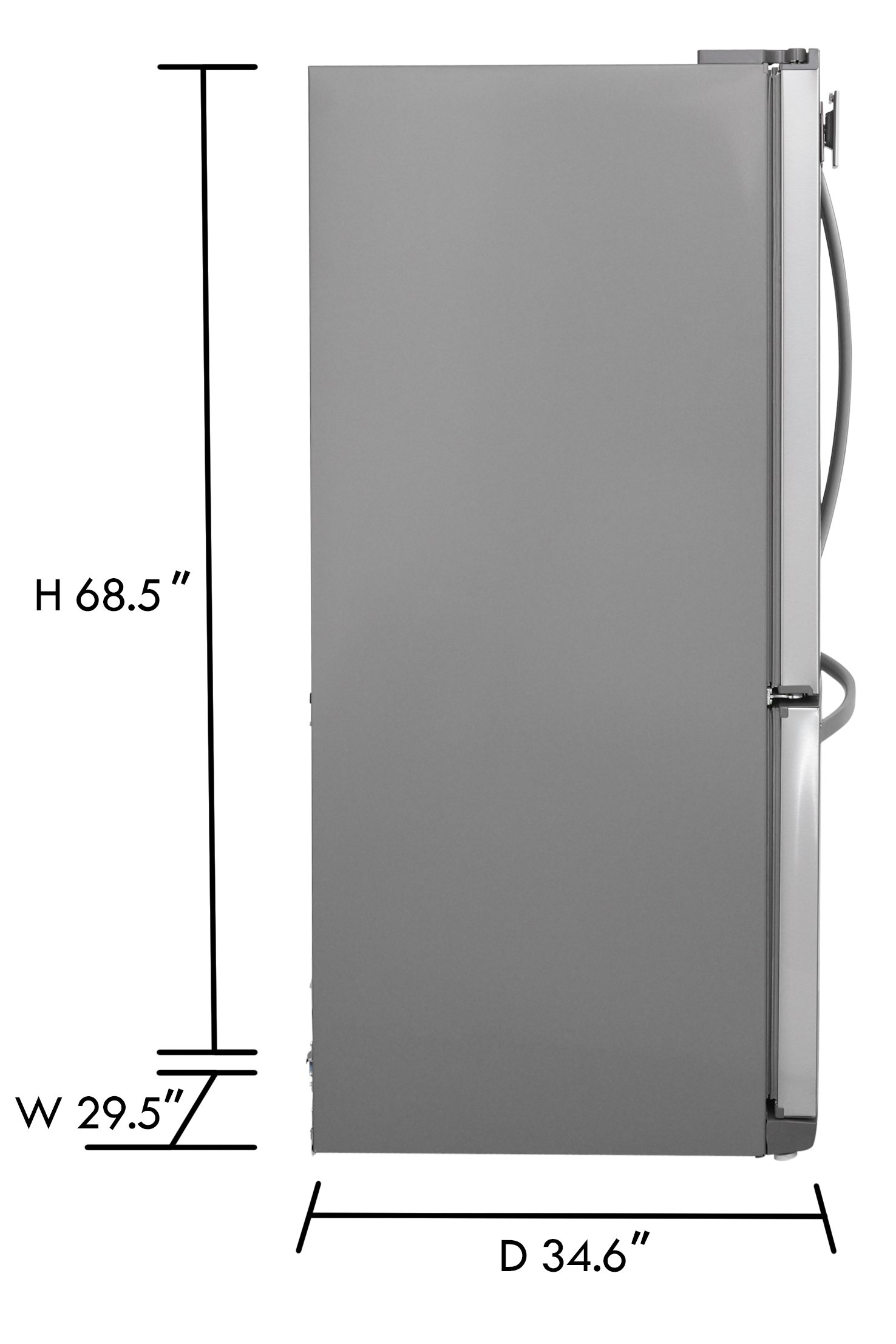 Kenmore 73003 19.5 cu. ft. Non-Dispense French Door Bottom-Freezer Refrigerator in Stainless Steel, includes delivery and hookup (Available in select cities only) by Kenmore (Image #3)
