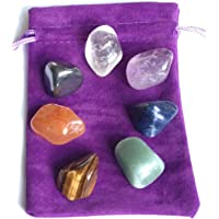Crystal Healing Chakra Tumblestone Set, Reiki Charged, Balancing