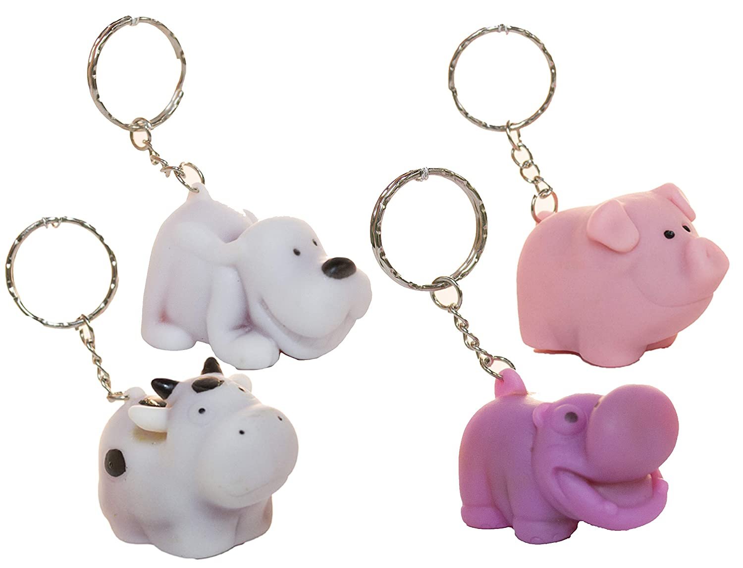 Amazon.com  Fun Stuff Set of 4 Naughty Pooping Animals Gag Novelty Key  Chains  Home   Kitchen 6139ffe1fd