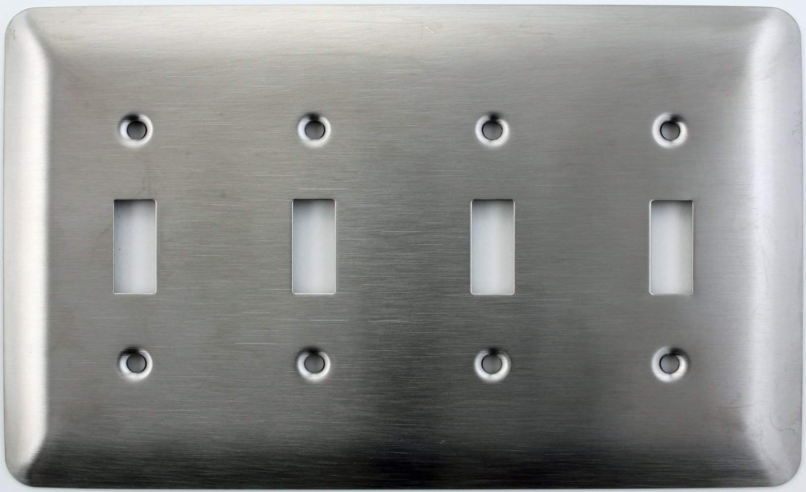 Mulberry Princess Style Satin Stainless Steel 4 Gang Toggle Light Switch Wall Plate