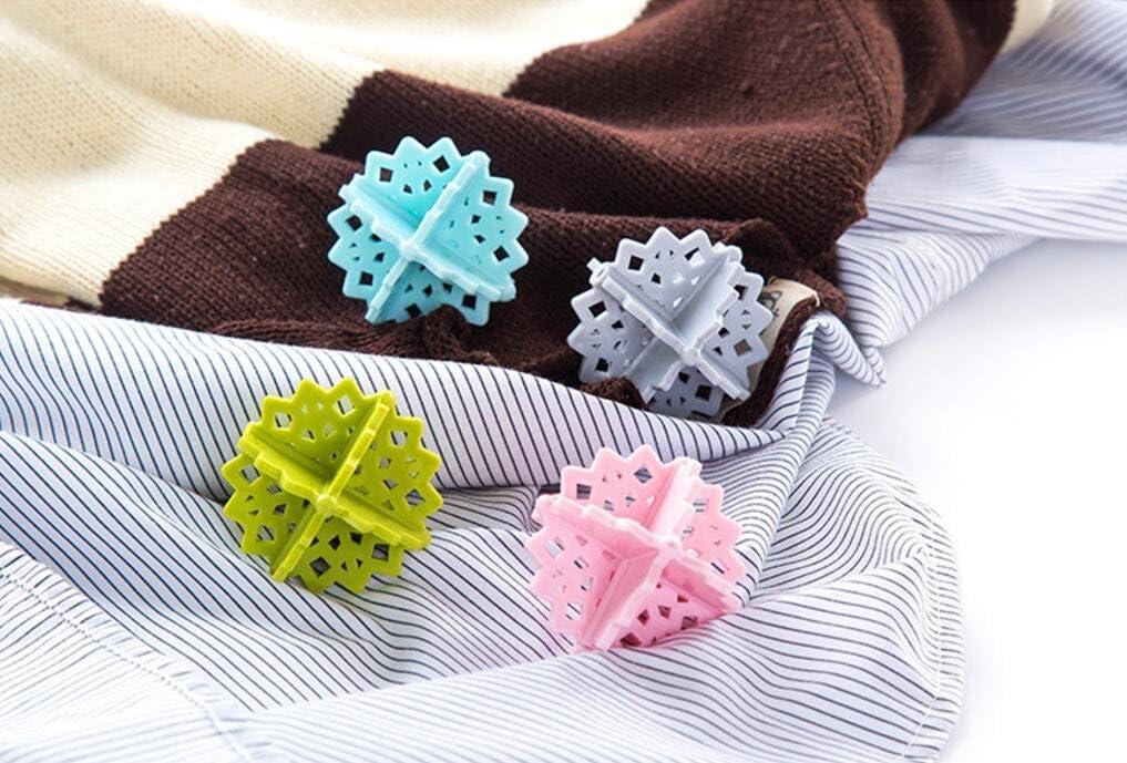8 Pack Magik Colorful Snowflake-shaped Laundry Ball Washing Ball 5 cm/ 2 Inch