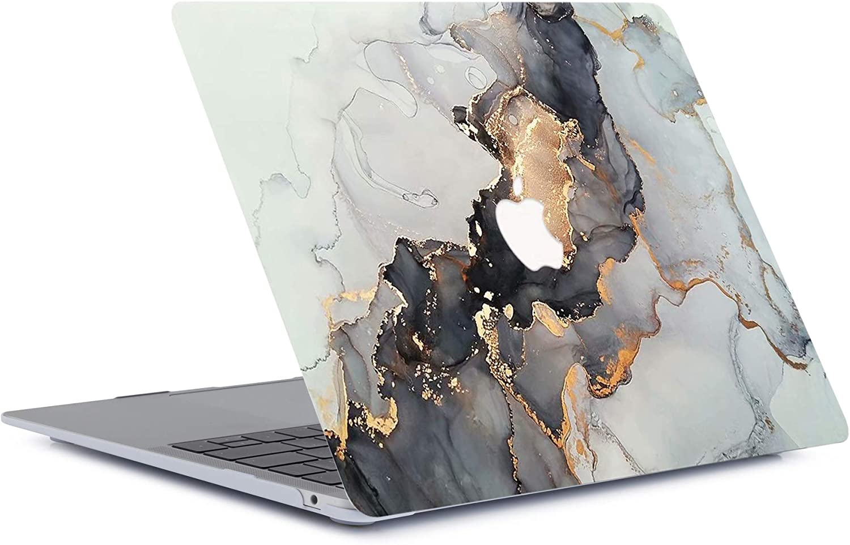 Marbre Dor/é ACJYX MacBook 12 Pouces Coque 2017 2016 2015 Version A1534 Coque De Protection Recouverte De Caoutchouc en Plastique avec Motifs Couverture Rigide pour Macbook 12 avec Retina