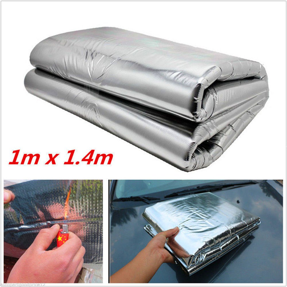 Eddofit Car Soundproof Insulation Sound Deadening Hood Heat Shield Noise Reducing Thermal Mat Durable Material 1m x 1.4m 39inch x 55inch