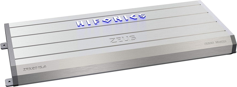 Hifonics ZRX2016.4 Zeus Car Audio Amplifier, 4-Channel 2000-Watt,silver
