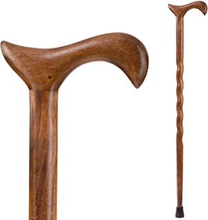 product image for Brazos Walking Cane for Men and Women Handcrafted of Lightweight Wood and made in the USA, Walnut, 37 Inches