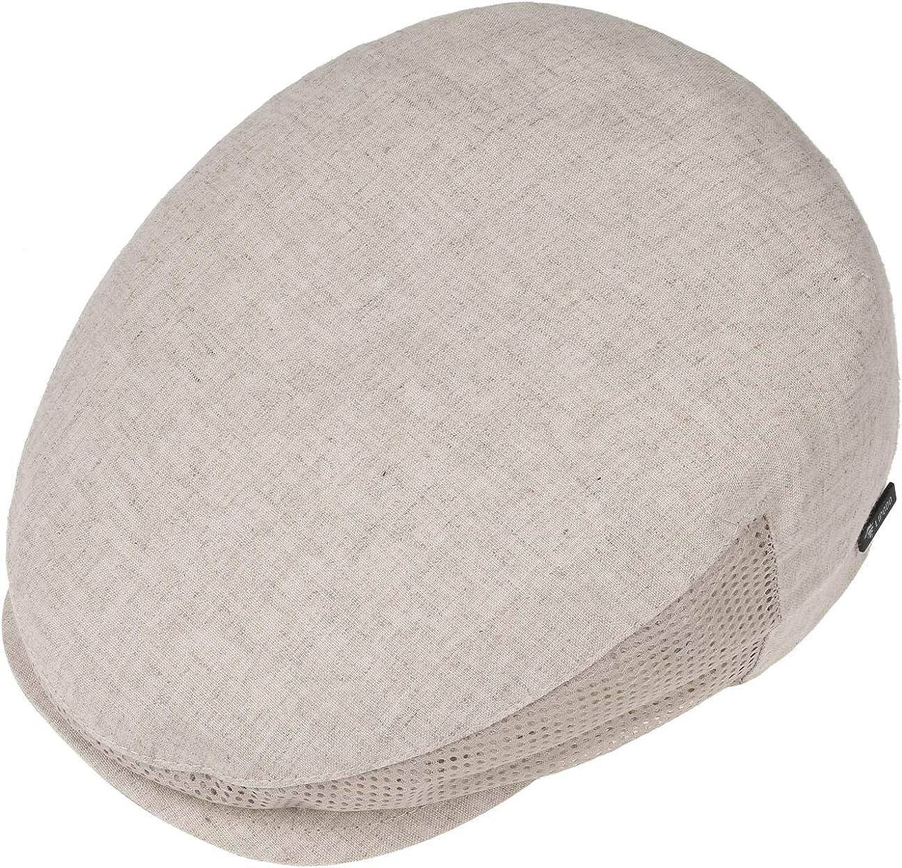 Fodera Fodera Primavera//Estate 62 cm Beige Made Italy Cotton cap Berretti irlandesi con Visiera Lipodo Mesh Berretto Piatto in Lino Uomo