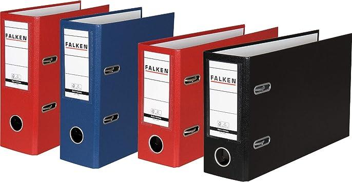 Falken Raccoglitore formati speciali per DIN A5/Verticale verticale ampio Rot