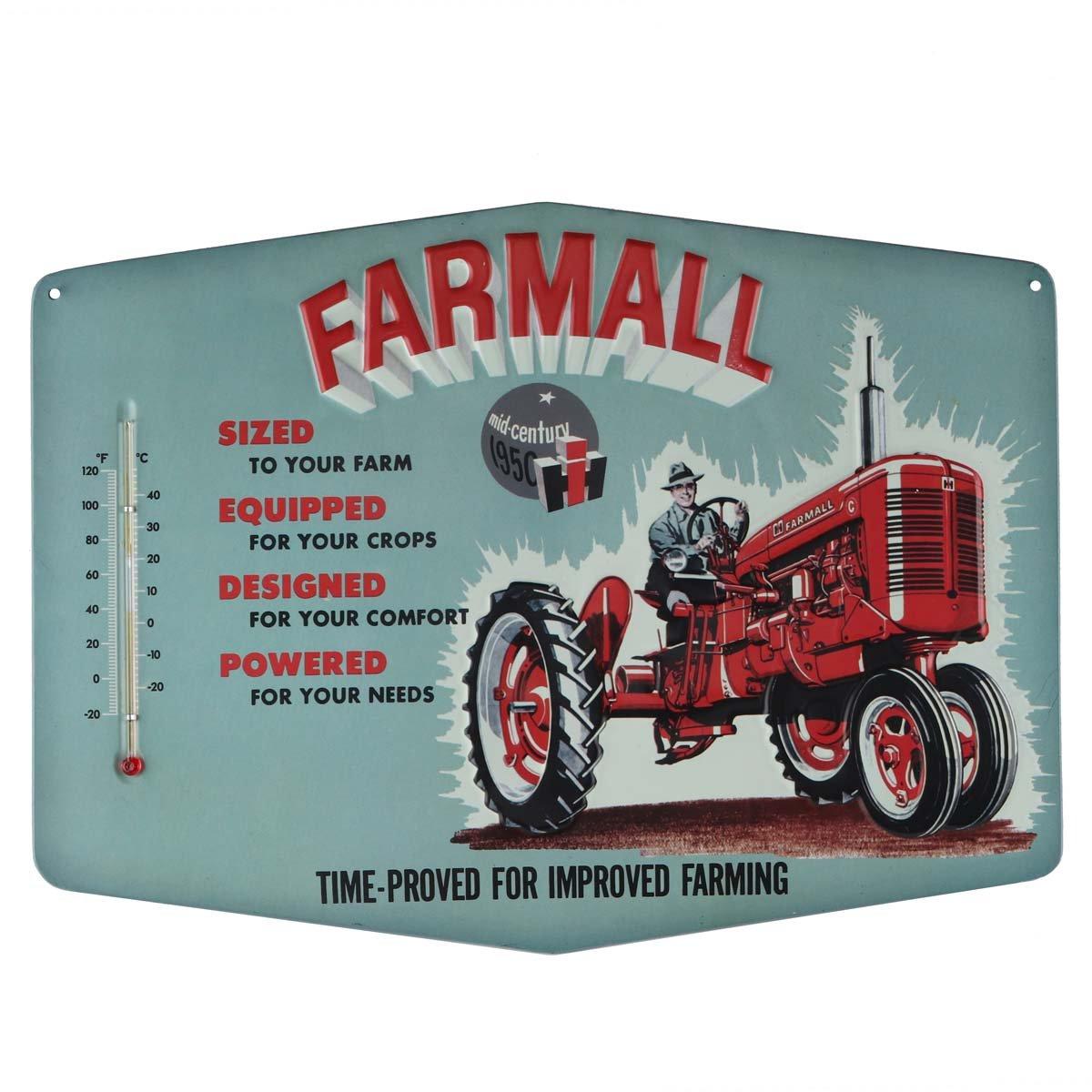 Open Road Brands Farmall Improved Retro Thermometer Sign