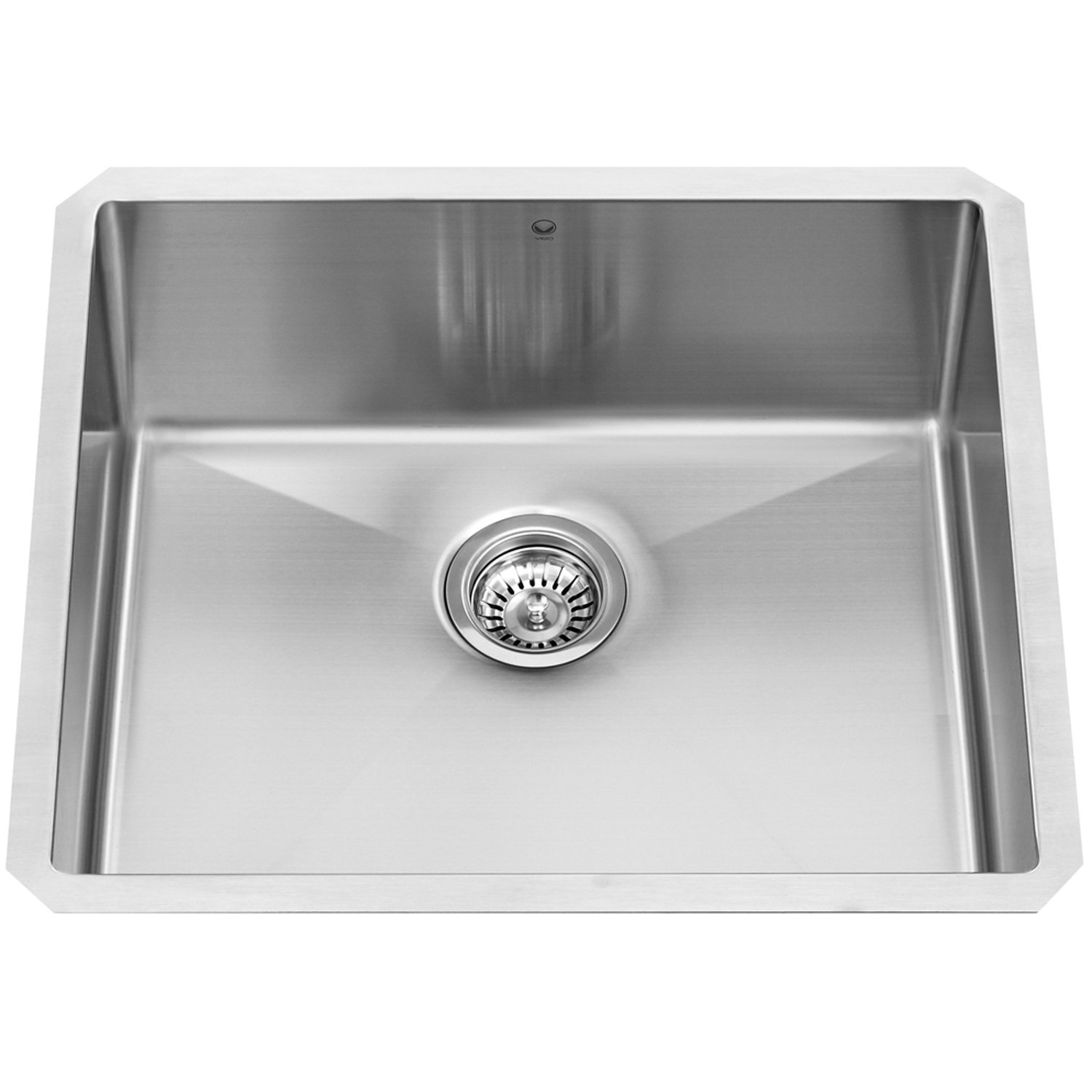 VIGO 23-inch Undermount Stainless Steel 16 Gauge Stainless Steel Single Kitchen Sink with Rounded Edge