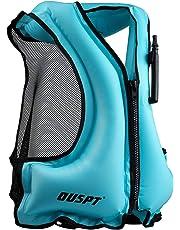 48d966b188 OUSPT Adulte Unisexe Portable Gonflable Tuba Gilet pour la plongée en Toute  sécurité
