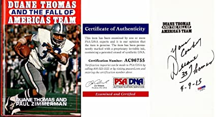 c62ddff6ad3 Duane Thomas Signed - Autographed The Fall of America's Team 1988 Hardcover  Book with PSA/