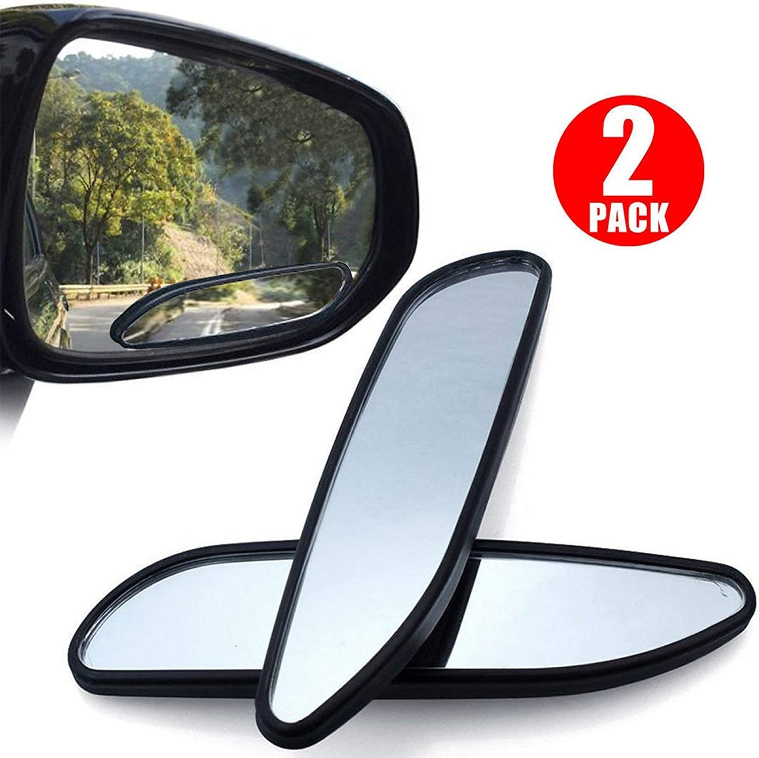 2x Convex Car RV Blind Spot Mirror Universal Useful Exterior Rear Side View
