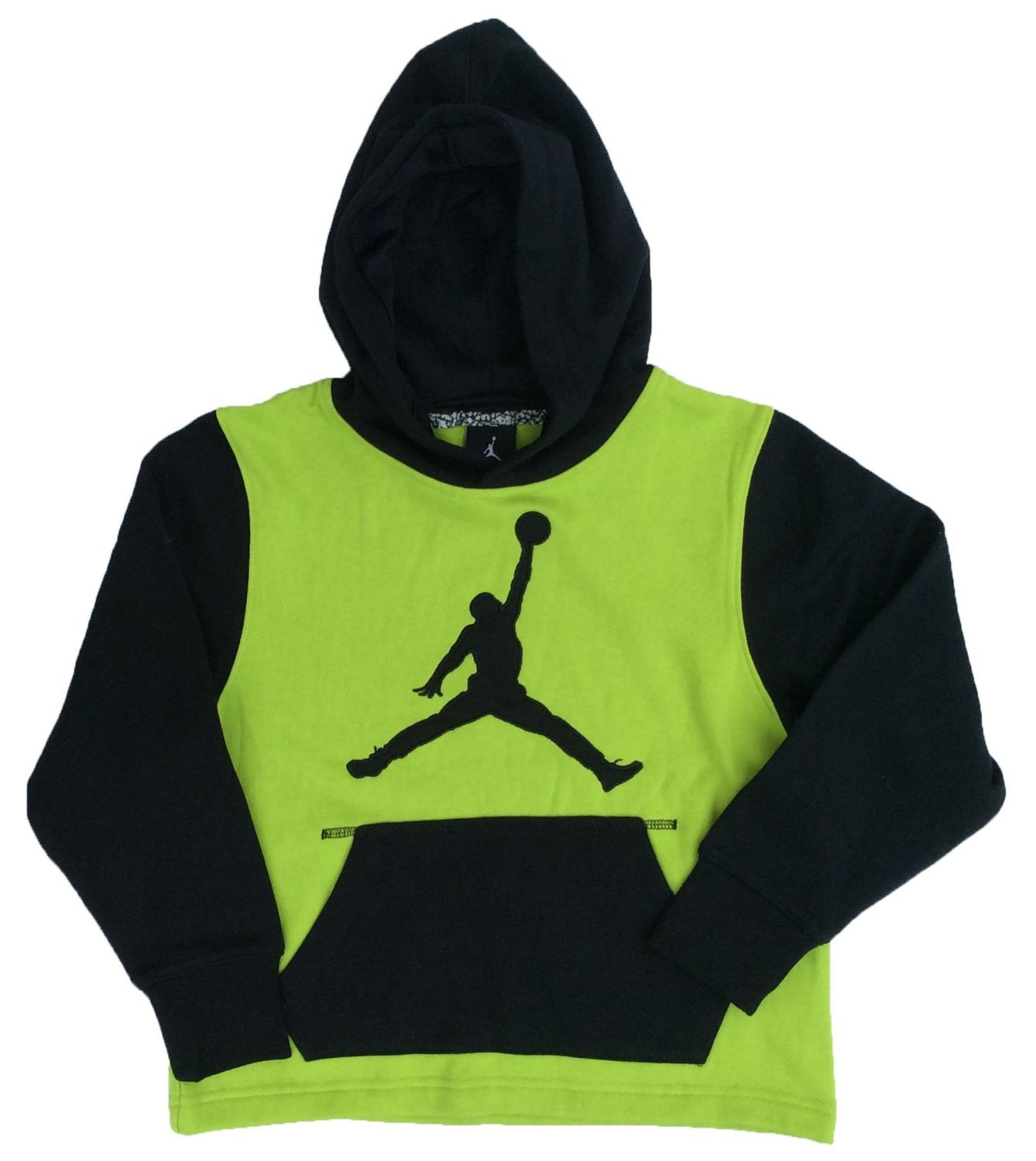 Jordan Big Boys ' (8 – 20 ) Nike Jumpmanプルオーバーパーカー(X L) (XL、明るい緑) B019BH9BLG