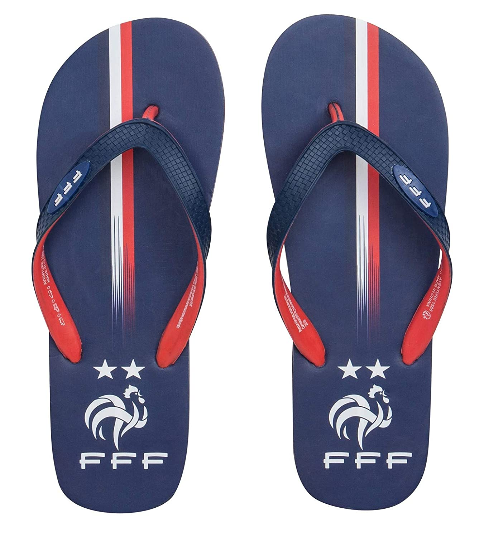 Collection Officielle Taille Homme Equipe de FRANCE de football Tongs FFF