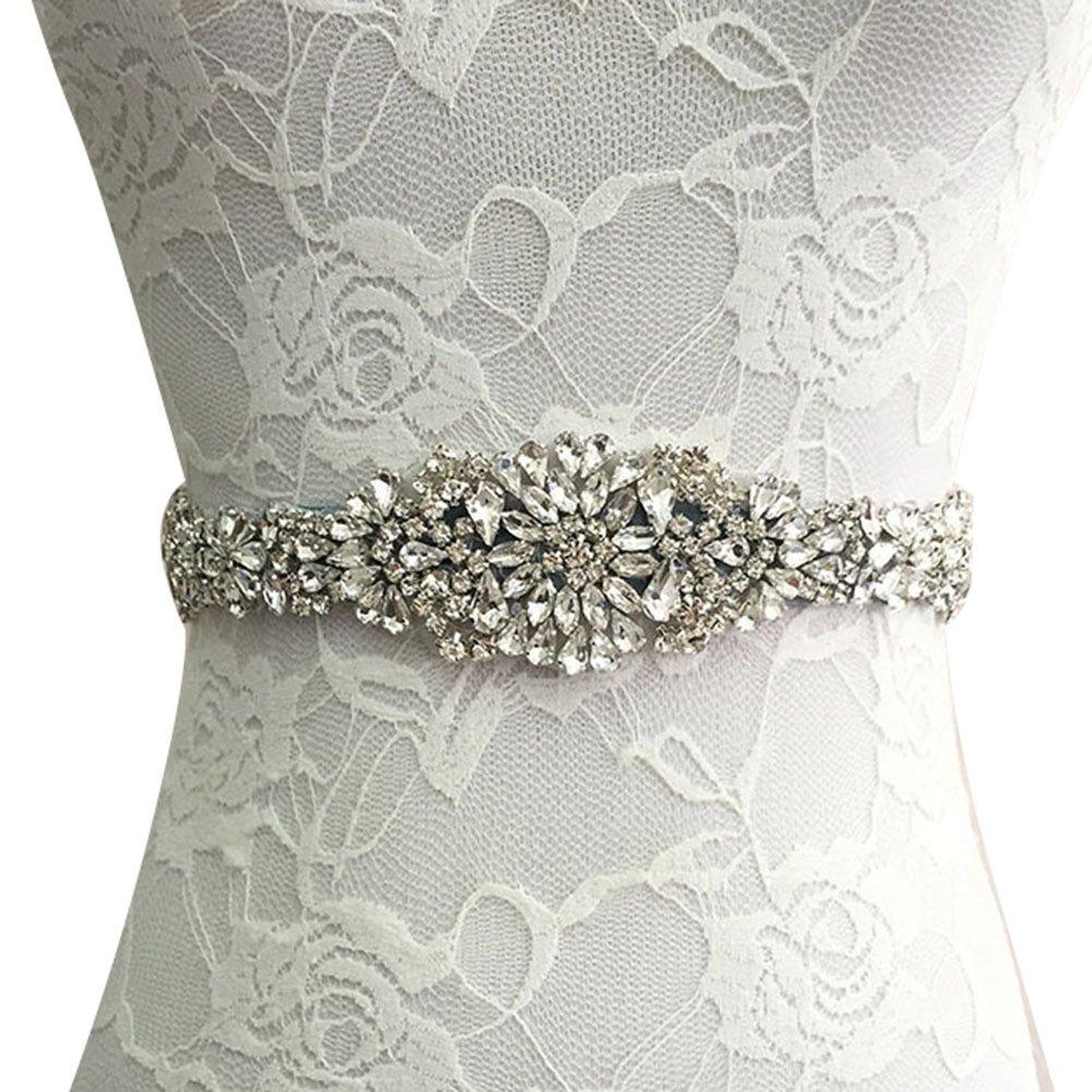 Hibote Rhinestone Cintur/ón nupcial Cintura Cintur/ón Sat/én Cinta Vestido de novia Cintur/ón