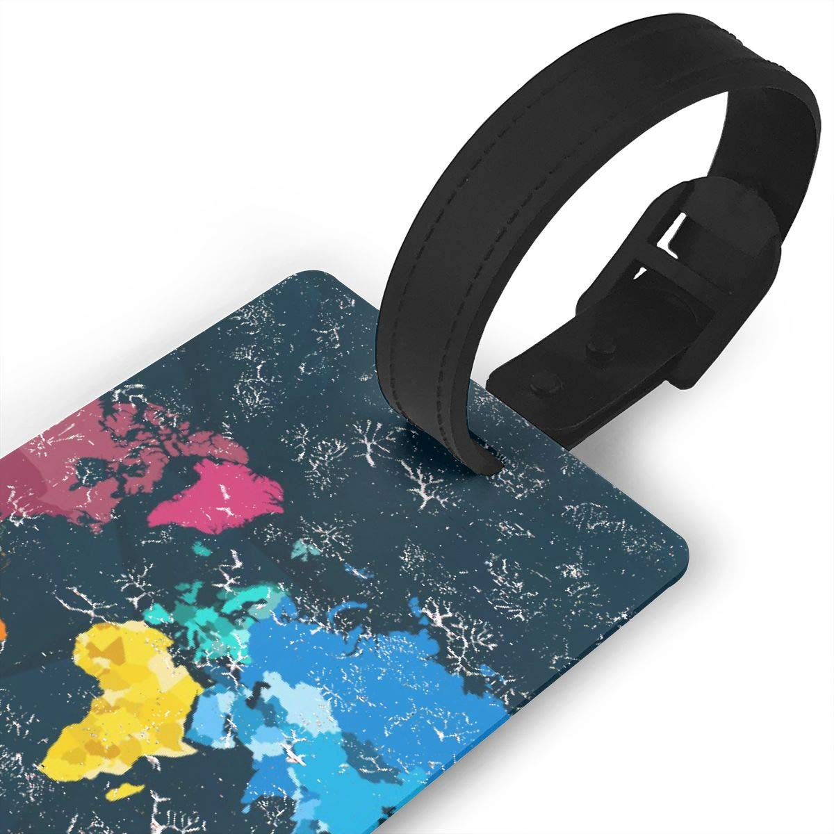 Colorful World Map1 Luggage Tags Bag Travel Labels For Baggage Suitcase