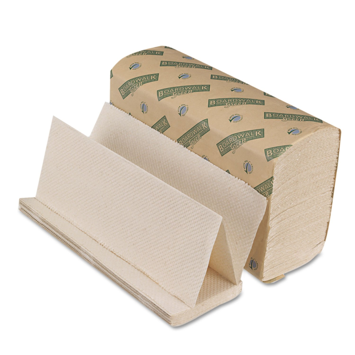 Boardwalk Green Folded Paper Towels, Multi-Fold, Natural We, 9 1/8W X 9 1/2L, 4000/Carton (10Green)