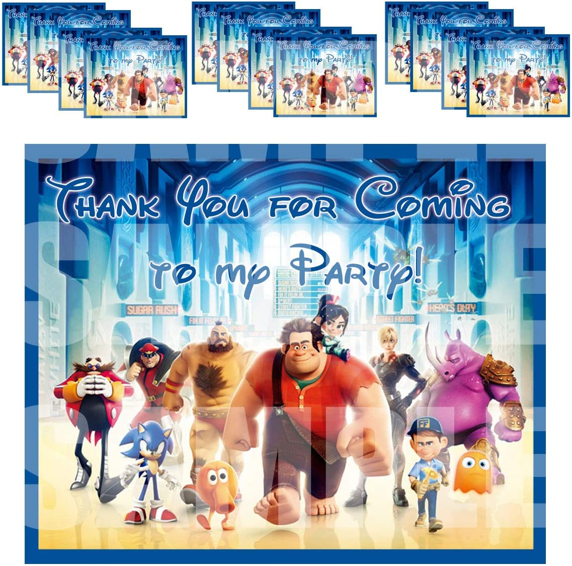 Birthday Party Favours Wreck Internet Party Loot Wreck it Ralph Stickers x 5
