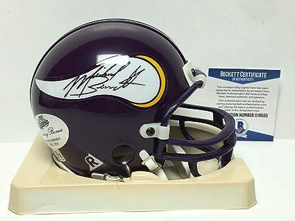 7ca04a80d Amazon.com  Michael Bennett Autographed Mini Helmet - BAS Beckett ...