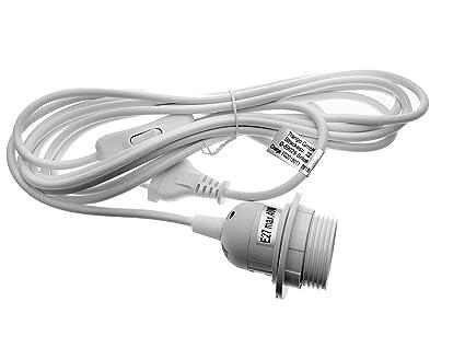 E27 Lampenfassung 5m Schalter Fassung Netzkabel Schraubring Lampenaufhängung