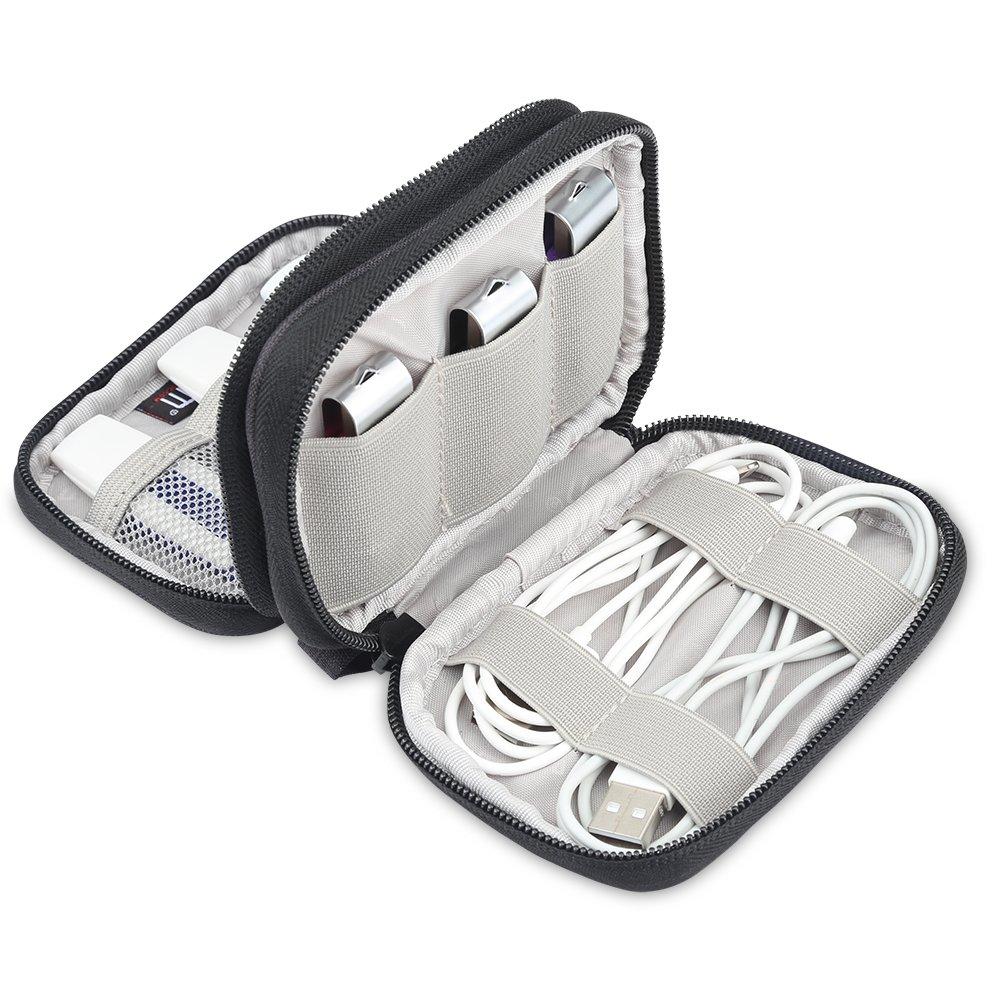 BUBM Bolsa para Pendrives USB Organizador de Cables Funda para El/èctronica