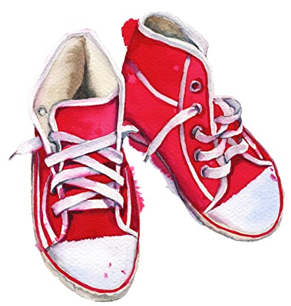 3981cd4fd0e2c Amazon.com: Red Vintage Watercolor Converse High Top Kids Sneaker ...