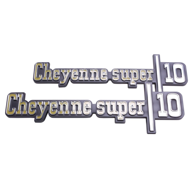 """1973-1976 Chevy /""""Cheyenne Super 10/"""" GMC Trim Parts 9775 Truck Front Fender Emblem"""