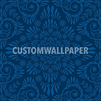 black and blue patterned wallpaper by customwallpaper com amazon com
