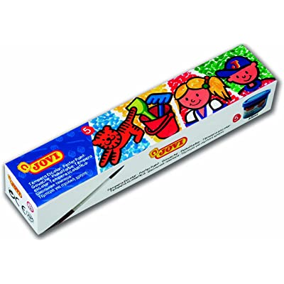 Jovi- 724898 Pack de 5 Botes de témpera Escolar, 35 ml, Multicolor (505) , color/modelo surtido