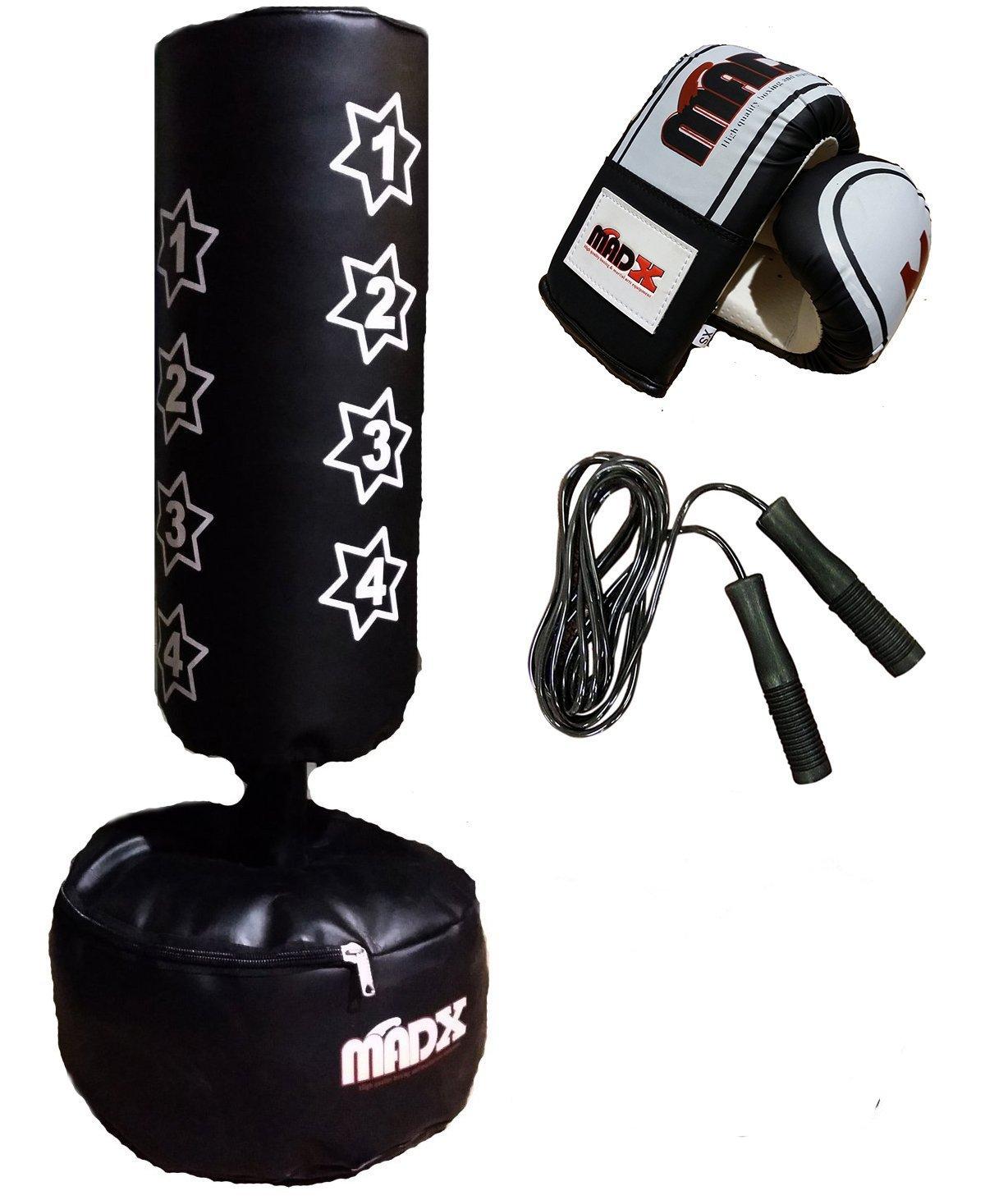 MADX Kids/Junior Boxing FREE STANDING Punch bag Set Freestanding Bag + Gloves