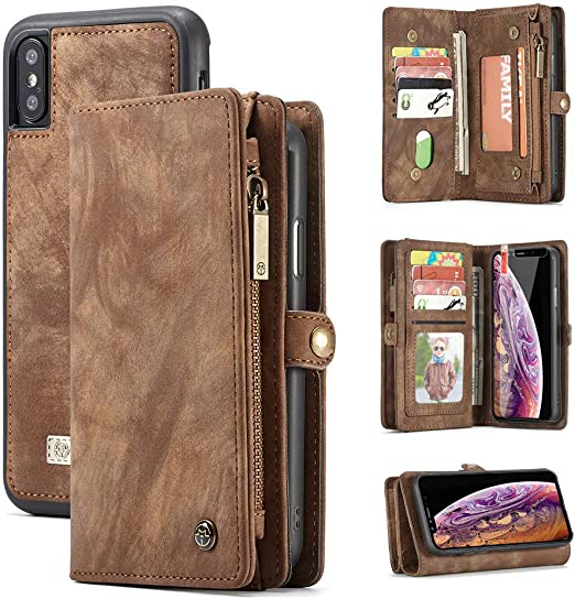 Elegant Yellow Wallet Case for iPhone Xs Max PU Leather Flip Cover Compatible with iPhone Xs Max