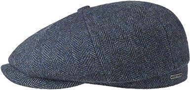 Stetson Gorra Hatteras Wool /& More Hombre Forro oto/ño//Invierno Made in The EU de Lana Newsboy con Visera