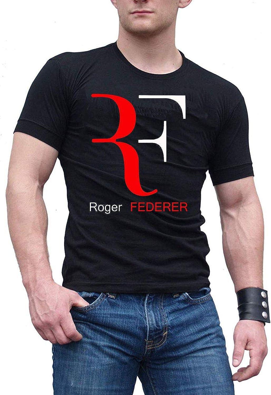 WUWUJYOU Hombre Shirt Roger Federer Logo 2 Camiseta Black: Amazon ...