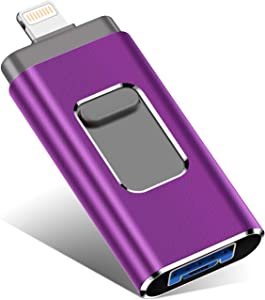 USB Flash Drive for iPhone 1TB, iPhone Memory Stick, iPhone Photo Stick External Storage for iPhone/PC/iPad/Android and More Devices with USB Port (1TB, Purple)