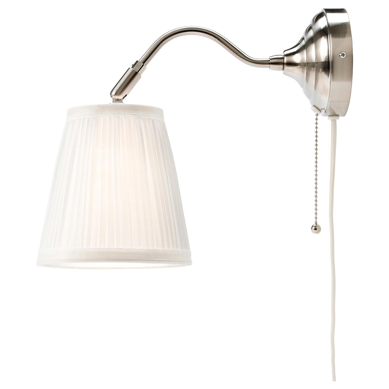 Bon Amazon.com: IKEA Arstid Wall Lamp, Nickel Plated, White Lampshade: Home U0026  Kitchen