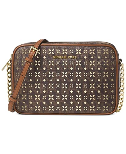 e7f39c133e71d Michael Kors Womens Faux Leather Crossbody East West Handbag Brown Small   Handbags  Amazon.com